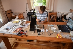 Mathis baut den 3D-Drucker auf