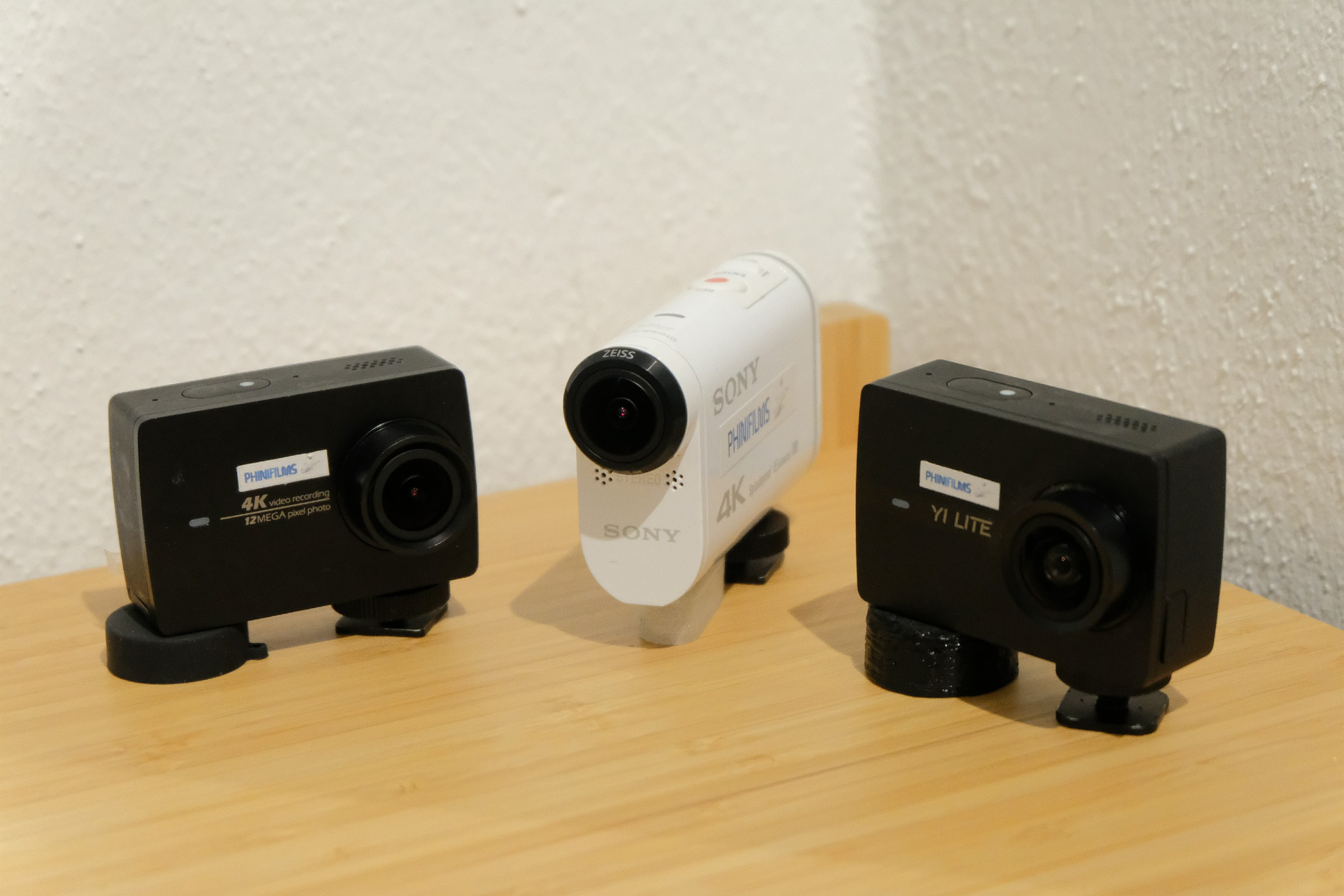 alle drei Action-Cams