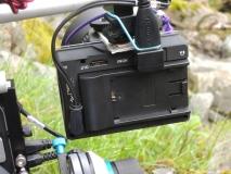 EVF/Monitor von hinten am Rig