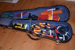 geöffneter Werkzeugkoffer